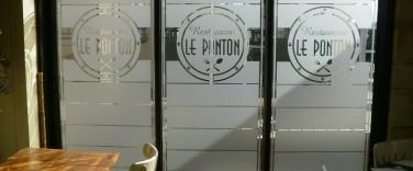 Adhésif verre dépoli Le Ponton - Contraste communication - Les Sables d'Olonne - Vendée
