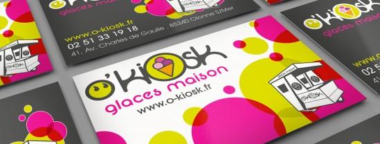 Carte de visite - O'Kiosk - Contraste communication - Sables d'Olonne