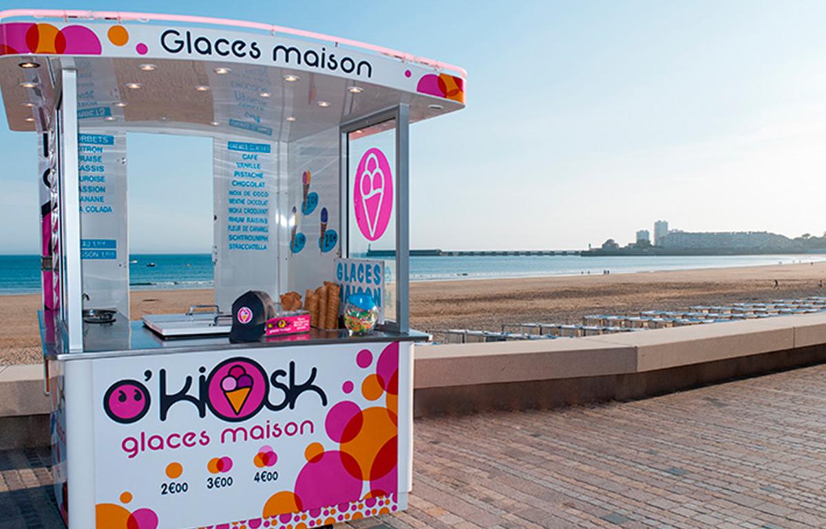 Marquage adhésif O'kiosk - Contraste communication - Les Sables d'Olonne - Vendée