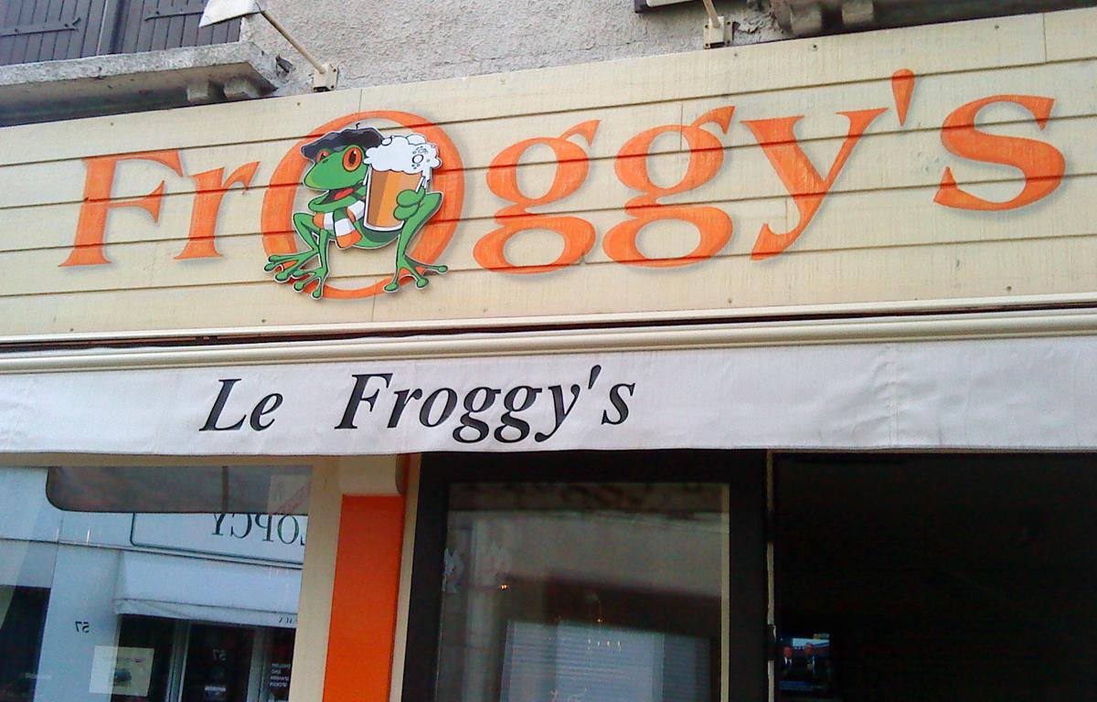 Enseigne Le Froggy's - Contraste communication - Les Sables d'Olonne - Vendée