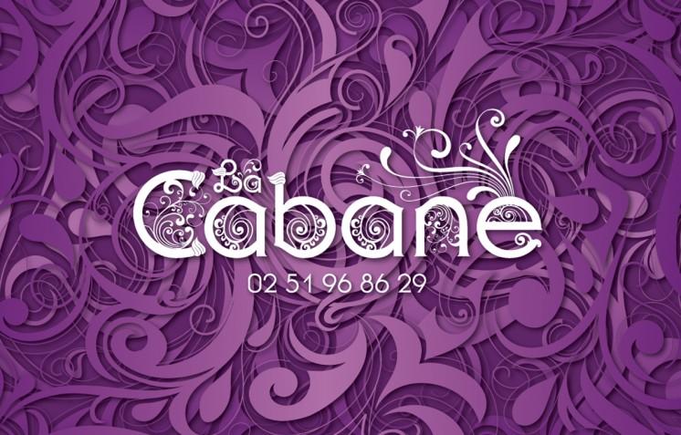 Création logo La Cabane - Contraste communication - Les Sables d'olonne - Vendée