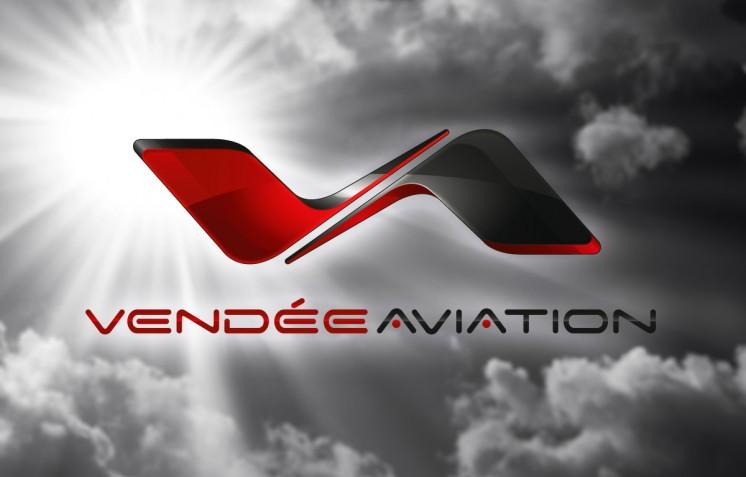 Création logo Vendée Aviation - Contraste communication - Les Sables d'Olonne - Vendée