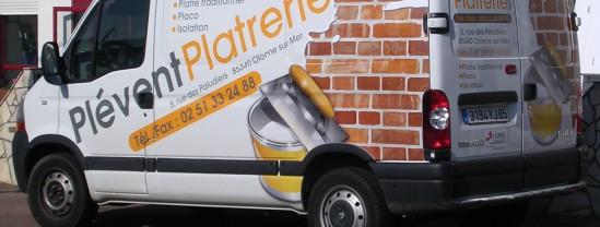 Marquage Plévent Platrerie - Contraste communication - Les Sables d'Olonne - Vendée