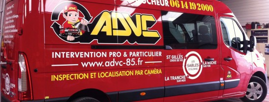 Marquage Véhicule - ADVC - Contraste Communication - Les Sables d'olonne - Vendée