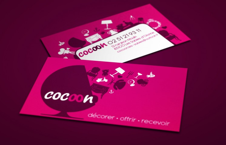 Création logo-et-carte de visite-Cocoon-Contraste Communication - Les Sables d'Olonne - Vendée