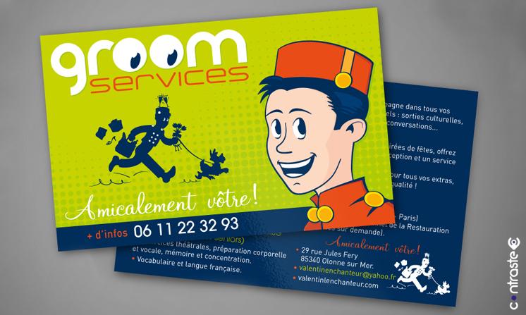 Création du logo et impression du foyer Groom Services